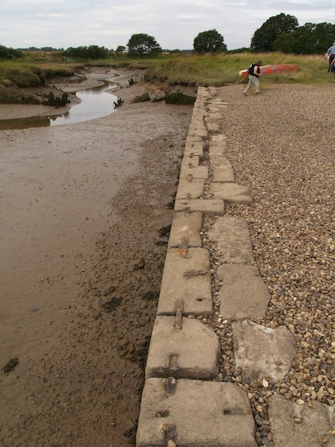 Stones at Beaumont Quay reused from London Bridge Copyright: Gerald Lucy