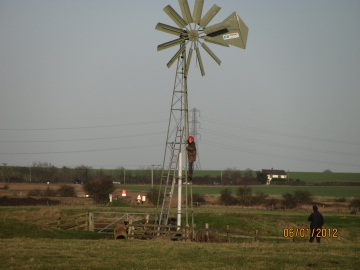 Blue House Farm EWT Reserve - turning on the wind pump Copyright: Graham Smith