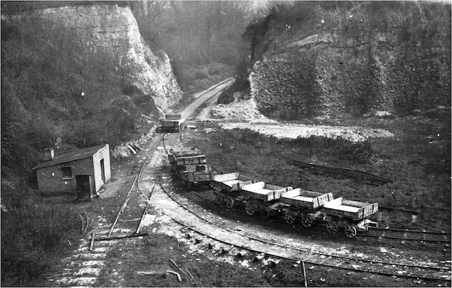 Part of Grays Chalk Pit in 1920 Copyright: Thurrock Museum