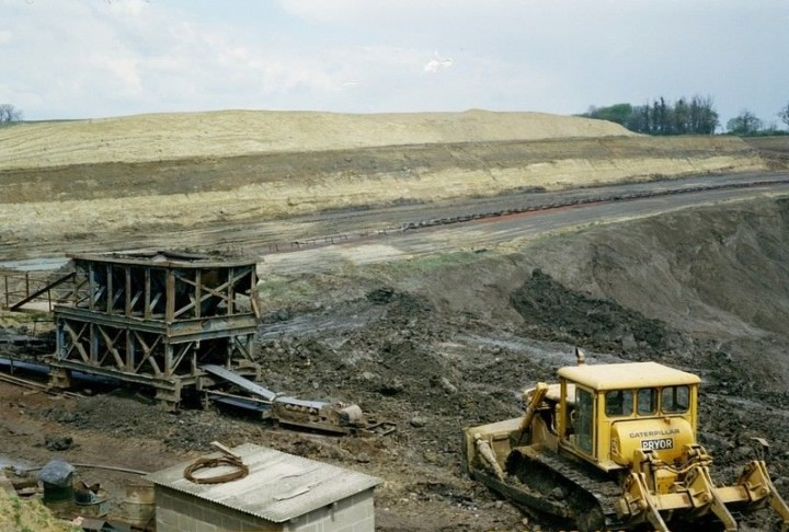 High Ongar Clay Pit in 1978 showing excavated till. Copyright: British Geological Survey (P212178)