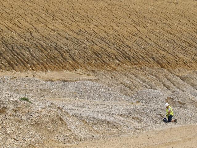 Anglian till above Kesgrave Gravel at Bulls Lodge Quarry Copyright: Gerald Lucy