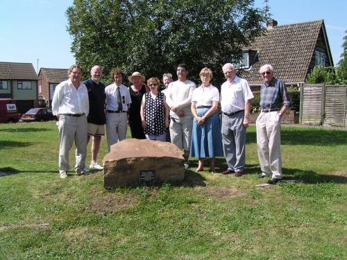 The Takeley sarsen unveiling ceremony on 19th July 2003. Copyright: Copyright © Takeley Local History Society