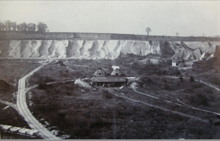 Grays Chalk Pit during a Geologists Association visit in 1910 Copyright: Geologists Association
