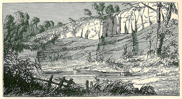 Engraving of Rolstons Pit in the late 19th century Copyright: