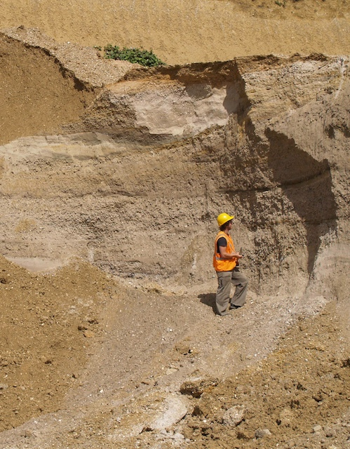 Kesgrave Sands and Gravels at Bulls Lodge Quarry Copyright: Gerald Lucy