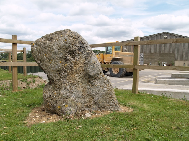 Hertfordshire Puddingstone by works at Bulls Lodge Gravel quarry Copyright: Gerald Lucy