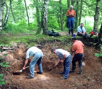 Creating a section on Little Warley Common in 2001 Copyright: Gerald Lucy