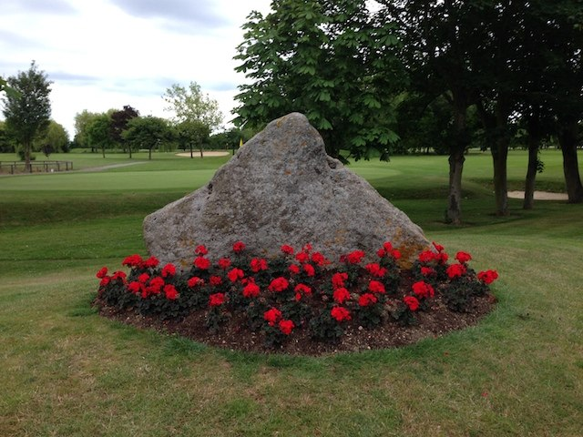 Hertfordshire puddingstone at Channels Golf Club Copyright: Gerald Lucy