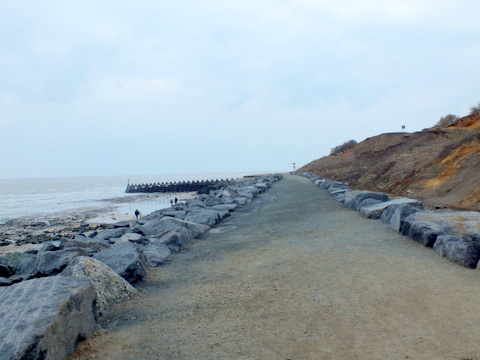 Naze undercliff Grag Walk looking south Copyright: Peter Pearson