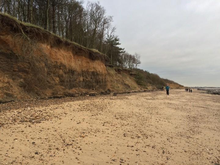 Cudmore Grove cliffs and beach Copyright: Lucy Heath