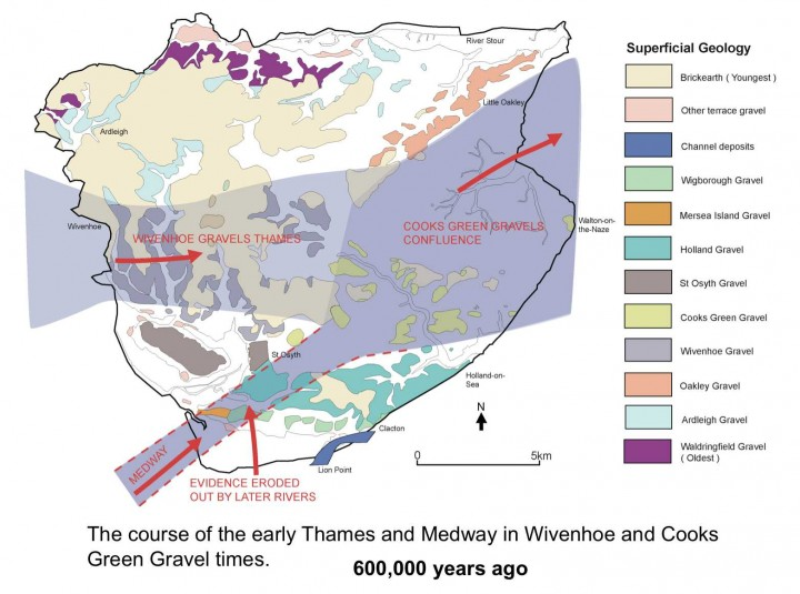 Wivenhoe and Cooks Green Gravel map Copyright: Essex County Council/Tendring District Council