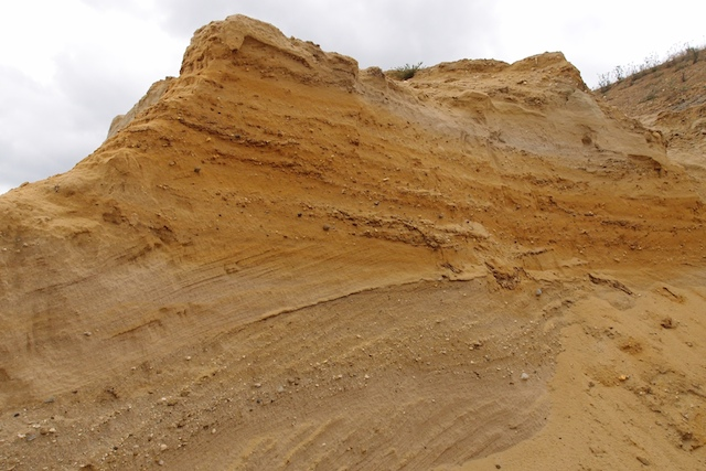Cross bedding in the Chillesford Sands at Elsenham Quarry Copyright: Gerald Lucy