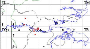 Gymnosoma nitens map Copyright: EFC