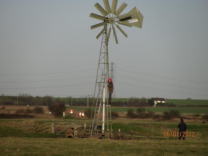 Blue House Farm EWT Reserve - turning on the wind pump Copyright: Graham Smith