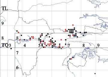 Bombus humilis map Copyright: EFC