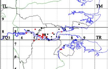 Cerceris quinquefasciata map Copyright: EFC