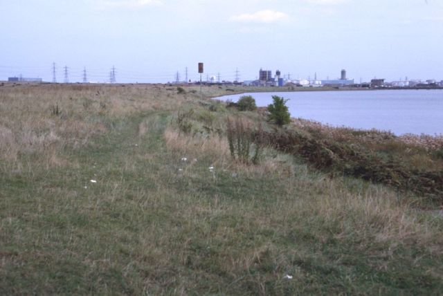 Barking land behind foreshore now destroyed Copyright: Peter Harvey