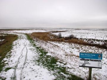 Blue House Farm EWT Reserve in the snow Copyright: Graham Smith