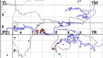 Andrena minutuloides map Copyright: P.R. Harvey